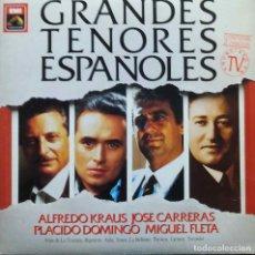 Discos de vinilo: GRANDES TENORES ESPAÑOLES. KRAUS. CARRERAS. DOMINGO. FLETA. LP DOBLE ESPAÑA. Lote 102662507
