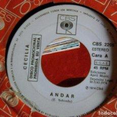 Discos de vinilo: CECILIA - ANDAR + ME QUEDARÉ SOLTERA (CBS, 1974) - ESCASO. Lote 102680251