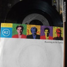 Disques de vinyle: LEVEL 42, RUNNING IN THE FAMILY, SINGLE SPAIN 1987 PEPETO. Lote 102708547