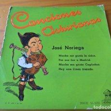 Discos de vinilo: CANCIONES ASTURIANAS, JOSE NORIEGA- MUCHO ME GUSTA LA SIDRA +3 - EP 50'S. Lote 102709067