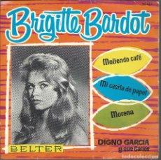 Discos de vinilo: 9467 -DISCO BRIGITTE BARDOT -DIGNO GARCIA Y SUS CARIOS- BELTER. Lote 102709659