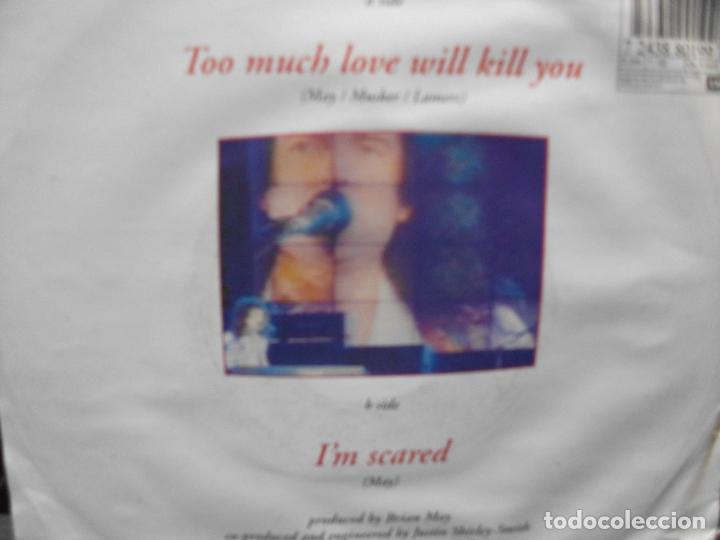 Discos de vinilo: BRIAN MAY (SN) TOO MUCH LOVE WILL KILL YOU AÑO 1992 PEPETO - Foto 2 - 102715799
