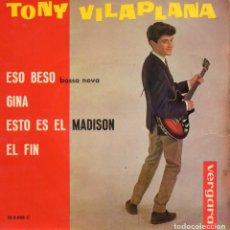 Discos de vinilo: TONY VILAPLANA, EP, ESO BESO + 3, AÑO 1963. Lote 102721783