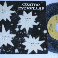 Discos de vinilo: CUATRO ESTRELLAS - EP SPAIN PS - MAS-BOY / CRUZ / L. DURAN / NARUD - VICTORIA LABEL. Lote 102742155
