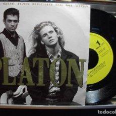 Discos de vinil: SINGLE, PLATON, MIRA QUE HAS HECHO DE MI VIDA PROMO SOLA CARA A 1992. Lote 102744247