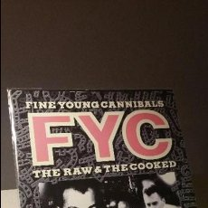 Discos de vinilo: FINE YOUNG CANNIBALS THE RAW AND THE COOKED, LP. Lote 102772327