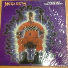 Discos de vinilo: SINGLE PICTURE DISC MEGADETH / NO MORE MR. NICE GUY DISCO TROQUELADO 1989 SBK RECORDS. Lote 102776551
