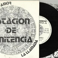 Discos de vinilo: ESTACION DE PENITENCIA SINGLE PROMOCIONAL POR UN POCO DE AMOR 1990 + HOJA PROMO. Lote 151080766