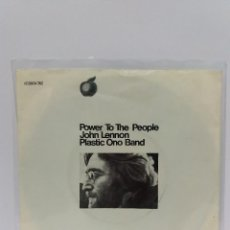 Discos de vinilo: SINGLE *JOHN LENNON*POWER TO THE PEOPLE*COVER/ NEAR MINT*SINGLE / EXCELLENT/NEAR MINT*1971*GERMANY. Lote 102786715