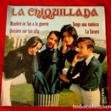 Discos de vinilo: LA CHIQUILLADA (EP. 1973) CANCIONES INFANTILES MAMBRU - QUISIERA SER TAN ALTA- LA TARARA - TENGO UNA. Lote 102793375