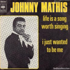 Discos de vinilo: JOHNNY MATHIS SINGLE 1974. Lote 102802179