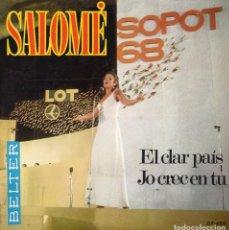 Discos de vinilo: SALOMÉ, SG, EL CLAR PAÍS + 1, AÑO 1968. Lote 102811535