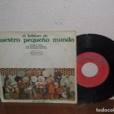 Discos de vinilo: NUESTRO PEQUEÑO MUNDO 7´´ MEGA RARE EXTENDED PLAY SPAIN 1968. Lote 102813135