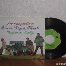Discos de vinilo: NUESTRO PEQUEÑO MUNDO 7´´ MEGA RARE VINTAGE SPAIN 1973. Lote 102813351