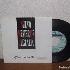 Discos de vinilo: NUEVO MESTER DE JUGLARÍA 7´´ MEGA RARE PROMO SPAIN 1992. Lote 102814279
