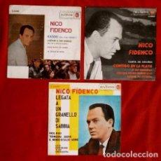 Discos de vinilo: NICO FIDENCO (EP. 1962-64) (LOTE 3 EPS) EXODO - LEGATA A UN GRANELLO DI SABBIA - CONTIGO EN LA PLAYA. Lote 102837335