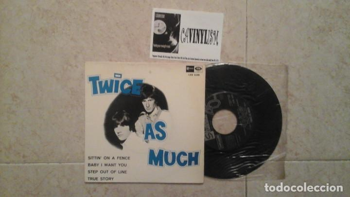 TWICE AS MUCH – SITTIN' ON A FENCE EP: STATESIDE – LSE 6.030 - ROLLING STONES COVER (Música - Discos - Singles Vinilo - Pop - Rock Extranjero de los 50 y 60)