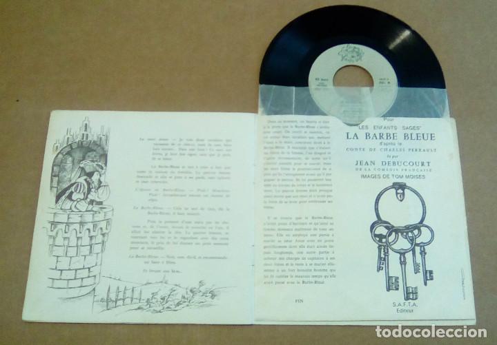 Discos de vinilo: LA BARBE BLEUE (Cuento de Charles Perrault por Jean Debucourt) (discolibro single 7'', ENF 701) - Foto 2 - 102913927