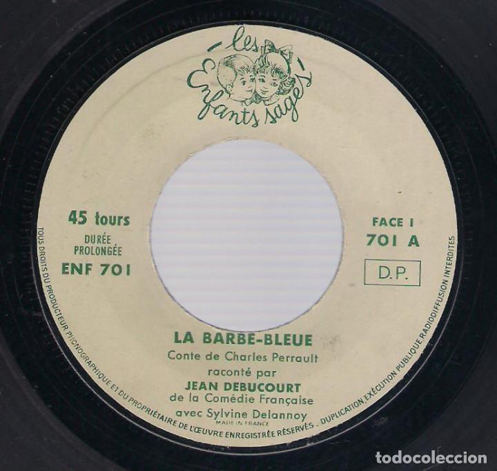 Discos de vinilo: LA BARBE BLEUE (Cuento de Charles Perrault por Jean Debucourt) (discolibro single 7'', ENF 701) - Foto 5 - 102913927