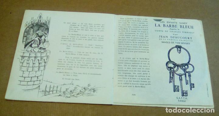 Discos de vinilo: LA BARBE BLEUE (Cuento de Charles Perrault por Jean Debucourt) (discolibro single 7'', ENF 701) - Foto 11 - 102913927