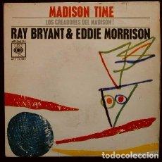 Discos de vinilo: RAY BRYANT Y EDDIE MORRISON (EP. CBS 1963) MADISON TIME (MUY BUEN ESTADO). Lote 102923927
