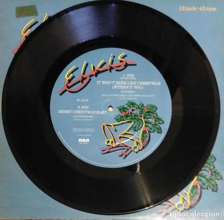 Discos de vinilo: Elvis Presley - It Won't Seem Like Christmas (Without You) EP 12 PULGADAS 1979 ENGLAND - Foto 3 - 102927667