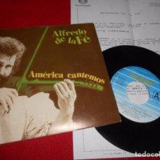 Discos de vinilo: ALFREDO DE LA FE CON WILL PERTUZ AMERICA CANTEMOS/TENDRAS QUE LLORAR 7'' 1992 FONOMUSIC+HOJA PROMO. Lote 102929103