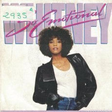 Discos de vinilo: WHITNEY HOUSTON - SO EMOTIONAL / FOR THE LOVE OF YOU (SINGLE ESPAÑOL, ARISTA 1987). Lote 102930763