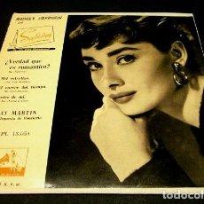 Discos de vinilo: RAY MARTIN (EP. 1958) MUSICA DE PELICULAS: SABRINA A. HEPBURN, LAS MODELOS, CASABLANCA, NOCHE Y DIA. Lote 102931559