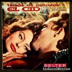 Discos de vinilo: EL CID / REY DE REYES (EP. 1961) EDDIE FRANK ORQUESTA DE CAMARA BELTER- MIKLOS ROZSA - SOPHIA LOREN. Lote 102931855