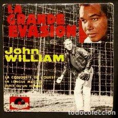 Discos de vinilo: LA GRAN EVASION / LA CONQUISTA DEL OESTE (EP. MADE IN FRANCE) JOHN WILLIAM-ORCHESTRE GILBERT COLOMBO. Lote 102932335