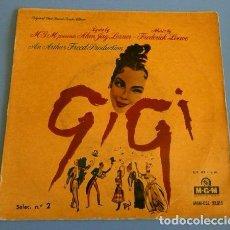 Discos de vinilo: GIGI (SINGLE BSO 1959) BANDA SONORA ORIGINAL DE LA PELICULA -ORQUESTA MGM ANDRE PREVIN- LESLIE CARON. Lote 102932567