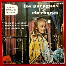 Discos de vinilo: LOS PARAGUAS DE CHERBURGO - EP. BSO 1964 - MUSICA MICHEL LEGRAND -GENEVIEVE GUY. Lote 102933199