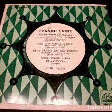 Discos de vinilo: FRANKIE LAINE CANTA CON PAUL WESTON ORQUESTA (EP. 1959) LA MUCHACHA DEL BOSQUE, WONDERFUL- OESTE -. Lote 102936543