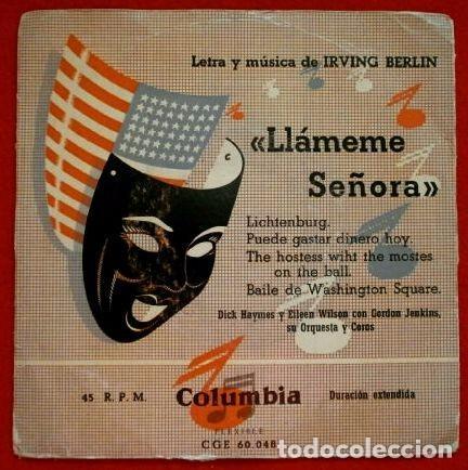 LLAMEME SEÑORA (EP. FILM 1953) (RARO) DICK HAYMES Y E.WILSON & GORDON JEMKINS ORQUESTA-IRVING BERLIN (Música - Discos de Vinilo - EPs - Bandas Sonoras y Actores)