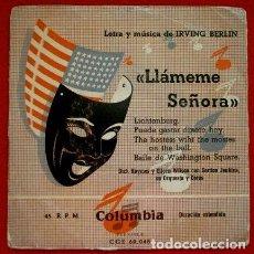 Discos de vinilo: LLAMEME SEÑORA (EP. FILM 1953) (RARO) DICK HAYMES Y E.WILSON & GORDON JEMKINS ORQUESTA-IRVING BERLIN. Lote 102937095
