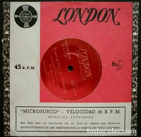 CANDILEJAS, MOULIN ROUGE, EL TERCER HOMBRE (EP. 1954) - LONDON RCA- VERSIONES ORQUESTA (Música - Discos de Vinilo - EPs - Bandas Sonoras y Actores)