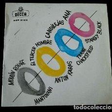 Discos de vinilo: TEMAS DE CINE (EP. 1961)- MOULIN ROUGE /EL TERCER HOMBRE/CANDILEJAS/ANA -ORQUESTA. Lote 102938115