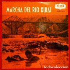 Discos de vinilo: EL PUENTE SOBRE EL RIO KWAI (EP.DECCA 1958)-MALCOM ARNOLD-MITCH MILLER Y SU ORQ.-MARCHA DEL RIO KWAI. Lote 102938195