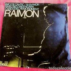Discos de vinilo: RAIMON (EP. EDIGSA 1966) INICI DE CANTIC, EN EL RECORD ENCARA, CANÇO DEL REMORDIMENT, SI EM MOR. Lote 102939651