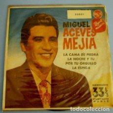 Discos de vinilo: MIGUEL ACEVES MEJIA (MICROSURCO 1961 COMPACTO DOBLE 33 RPM) LA CAMA DE PIEDRA (DIFICIL) TU ORGULLO. Lote 102951631