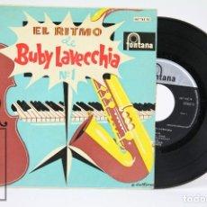 Discos de vinilo: DISCO EP DE VINILO - EL RITMO DE BUBY LAVECCHIA Nº 1 - FONTANA - AÑO 1960. Lote 102952203