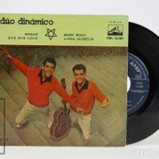 Discos de vinilo: DISCO EP DE VINILO - DÚO DINÁMICO / ROGAR, BYE BYE LOVE, BABY ROCK - LA VOZ DE SU AMO - AÑO 1959. Lote 102955371