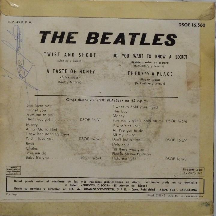 Discos de vinilo: THE BEATLES - TWIST AND SHOUT - Foto 2 - 102950175