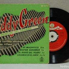 Discos de vinilo: EDDY GREEN, EL PRINCIPE DEL ORGANO. HISPAVOX, REF. HF 3710. EP. Lote 102957091