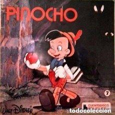 Discos de vinilo: WALT DISNEY - PINOCHO (CUENTODISCO BRUGUERA 1967) EP DISNEYLAND. Lote 102974763