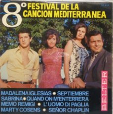 Discos de vinilo: 8º FESTIVAL DE LA CANCION MEDITERRANEA. Lote 102950807