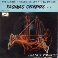Discos de vinilo: FRANCK POURCEL - PAGINAS CELEBRES. Lote 102950811