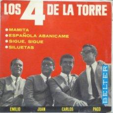 Discos de vinilo: LOS 4 DE LA TORRE. Lote 102950878