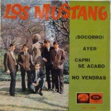 Discos de vinilo: LOS MUSTANG - SOCORRO. Lote 102950906